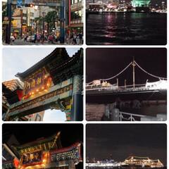 新幹線車窓からの富士山/後から出る筋肉痛/横浜旅行おまけ写真 横浜旅行おまけ写真💕 横浜の夜景、シーバ…