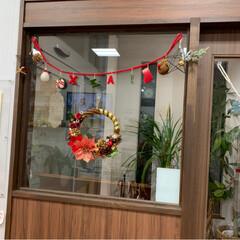 ペーパーヤーンしめ縄/リミ友さんからの贈り物/クリスマスリース/クリスマス2019/ダイソー/セリア/... リミ友さんからの贈り物💕 うちにも素敵な…(2枚目)