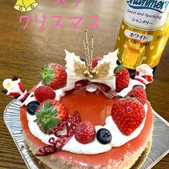 シャンメリー/レアチーズケーキ/クリスマスケーキ メリークリスマス🎁🎄🎅 クリスマスケーキ…