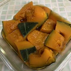 納豆/金のつぶ たまご醤油たれ/レンチンかぼちゃの煮物/レンチン煮物/ハロウィン🎃 レンチンでかぼちゃの煮物🎃💕 リミアの皆…