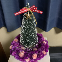 6Pチーズ空き箱/千日紅ドライ/ミニクリスマスツリー ミニクリスマスツリー💕 土台は千日紅ちゃ…(1枚目)