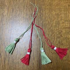 レース糸/タッセル/ダイソー/100均 レース糸でタッセル💕 しめ縄リースに付け…