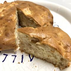 りんご消費/やる気スイッチ/ホットケーキミックス/りんごケーキ りんごケーキ💕 今日はお休みで、たくさん…