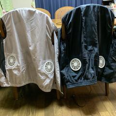 残暑乗り切る/夏の作業着/空調服 空調服💕 ベスト型でファン(小さい扇風機…
