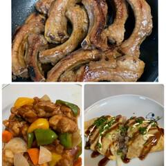 とん平焼き/スペアリブ/ガッツリ系献立/酷暑/酢鶏 がっつり系献立💕 スペアリブ、酢鶏(酢豚…