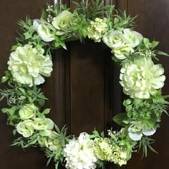 春リース/100均/ダイソー/セリア 春リース💕 玄関に飾ろかな🌿