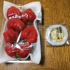 いちご大福/あんこ餅/いちご いちごとあんこ餅💕 交互に食べるといちご…