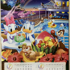 今日から7月/隠れミッキーカレンダー 隠れミッキーカレンダー💕 今日から7月👍…