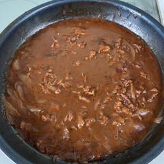 作りおきおかず/コロッケ屋さんのコロッケ/ハヤシライス ハヤシライス💕お鍋から失礼します🤗 最近…