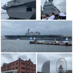 駅弁/赤レンガパーク/護衛艦いずも/横浜旅行 横浜旅行2日目💕 今日はあいにくの曇り空…