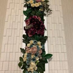 ホームセンタームサシ/薔薇の壁掛け/雨季ウキフォト投稿キャンペーン/令和の一枚/100均/ダイソー/... 薔薇の大作壁掛け💕 ご近所のDIY大好き…