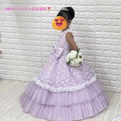ドレス/5歳バースデー/記念撮影/レモン/サクレ/パピコ/... おはようございます😃  ミッキーのおっぴ…(4枚目)