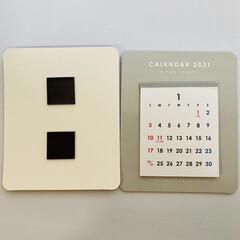 モノトーン雑貨/モノトーンインテリア/カレンダー/生活の知恵/インテリア/100均/... セリアの2021年マグネットカレンダー✨…(2枚目)