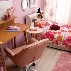デスク/ベッド/子供部屋/キッズルーム 勉強部屋を見据えた初めてのキッズルーム …