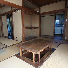 戸建てリノベーション/ビフォア 居間、台所、客間、和室、書斎が廊下でつな…