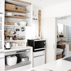 収納/100均/DIY/キッチン/インテリア/清潔感/... 築6年。建売の備え付けキッチン収納棚を …