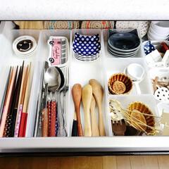 キッチン/収納/雑貨/キッチン雑貨/セリア/100均/... お友達のキッチンを片づけてきました。 使…
