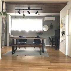 ピアノ/ドライフラワーのある暮らし/グリーンのある暮らし/ドライフラワー/ライト/床暖房/... ダイニングの北側の窓を大きくしたので雨の…