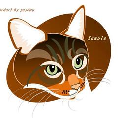 似顔絵/イラスト/フォロー大歓迎/ペット/猫/ハンドメイド/... 表情さまざま。最初の2枚はFB友の猫ちゃ…