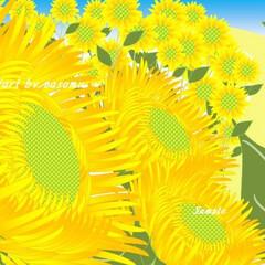 向日葵/ひまわり/ヒマワリ/広島原爆忌/広島/イラスト/... 今日は、広島原爆忌ですね。 朝8時15分…