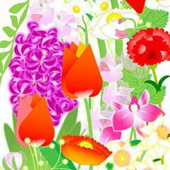 癒し/イラスト/絵/インテリア/春/チューリップ/... 寒いですね~💦 春が待ち遠しくて、 春の…