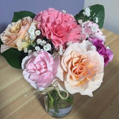 月命日/お花 義父の月命日に用意するお花。 アップする…