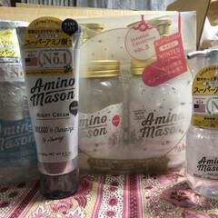 アミノメイソン スムース シャンプー&トリートメント ウィンター限定キット スノーブーケの香り(その他スキンケア、フェイスケア)を使ったクチコミ「アミノメイソンリピートしました。 キッチ…」