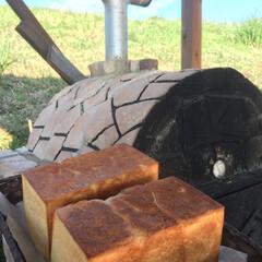 手作りパン/食パン/石窯/ハンドメイド 石窯で焼きたてプルマン食パン🍞 自宅に石…