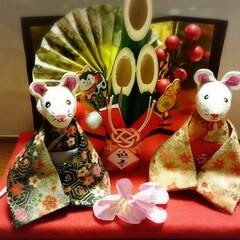 ねずみ/正月飾り/石粉粘土/リミアの冬暮らし/ダイソー/セリア/... 今日は夫婦ネズミ飾り~✨ 実家用に作りま…
