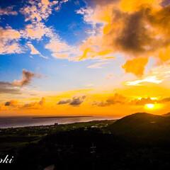 sunset/サンセット/夕陽/夕日/おでかけ/風景/... 高台からの夕日