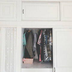 断捨離/和室/押し入れ/クローゼット/大正ロマン/洋館インテリア/... 🛠 ・ #和室から洋室へ  #押し入れ収…