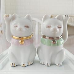 運気アップ/招き猫/ポーセラーツ/リミアの冬暮らし/DIY/ハンドメイド/... 🐈 ・ #ポーセラーツ招き猫  出来上が…