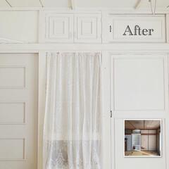 襖リメイク/腰壁/和室から洋室/和室リフォーム/リミアな暮らし/DIY/... 🛠 ・ #和室から洋室へ  #befor…