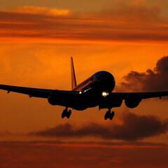風景 黄昏時の翼