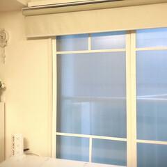 窓枠DIY/結露対策/窓枠/簡単/おしゃれ/DIY/... リビングに二重窓を取り付けました とはい…(1枚目)