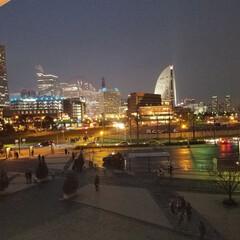 風景 横浜の夜景です。好きなアーティストのクリ…