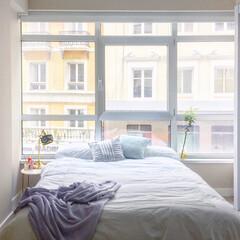 シーツ/寝室/ベッドルーム/ベッド/インテリアコーディネート/Zara home/... ベッドリネンを新調。  春向けに白で統一…