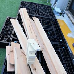 腐らない/パレット/ウッドデッキ/DIY/節約 プラパレットを使ってウッドデッキ作り。 …(5枚目)
