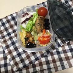 お弁当/住まい 娘の今日のお弁当、ヒジキ入り豆腐ハンバー…