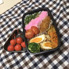 お弁当/住まい/暮らし 娘の今日のお弁当 春のイメージです カキ…