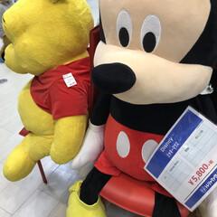 ディズニー/中古商品売り場 中古店で大きなミッキーマウス 中古でもこ…