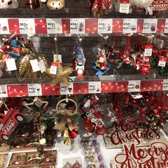 地元のニトリ店/クリスマス用品 先月の終わり頃から 今月のかかり もうク…