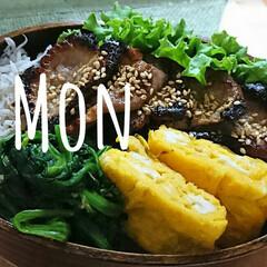 旦那さん弁当/わっぱ弁当/フォロー大歓迎 たとえば今日のお弁当 豚ロース焼肉 ほう…