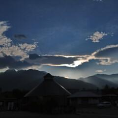 雲/空/道の駅/おでかけ/暮らし/フォロー大歓迎/... 道の駅からの空。