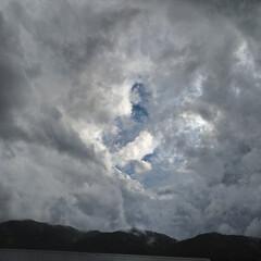 マーブル/台風/空/雲/暮らし/フォロー大歓迎 マーブルな雲➰🌀☁️