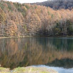 ドライブ/山/池/紅葉/おでかけ/暮らし/... 紅葉🍁を見にちょこっとドライブ🚙🌀 水面…