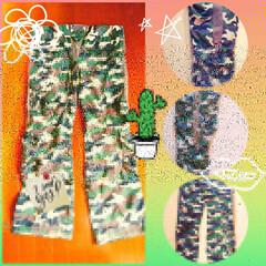 ファッション/リメイク/リメイクパンツ/ワイドパンツ/迷彩パンツ/おしゃれ/... 迷彩パンツ、ワイドにリメイクしました🌲 …(2枚目)