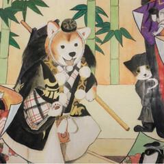 フォロー大歓迎/犬/猫 昨日、高校生の娘の美術展を観に、学校へ行…(2枚目)