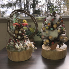 フォロー大歓迎/ペット/クリスマス/クリスマスツリー/風景/ハンドメイド/... 自然物(枯枝・木の実等)をメインのモチー…(1枚目)