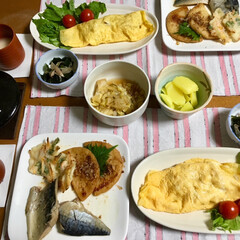 さば味噌煮/オムレツ/LIMIAごはんクラブ/フォロー大歓迎/わたしのごはん/おうちごはんクラブ 🥚昨夜の夕食🥢 さば味噌煮。 さつま揚げ…